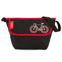 Manhattan Portage City Bike Mini NY Messenger - Black/Red