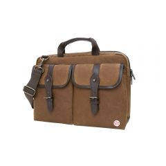 "TOKEN Waxed Knickerbocker Laptop Bag (13"") - Field Tan/Dark Brown"