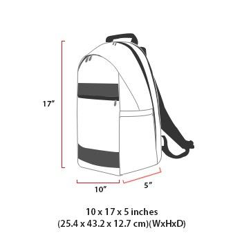 size chart ironworker backpack