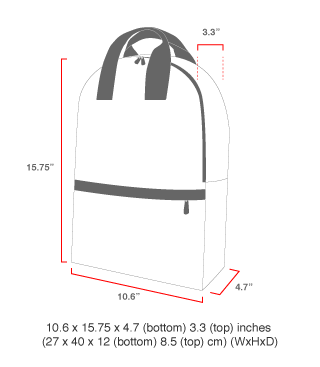 size chart Governors Backpack