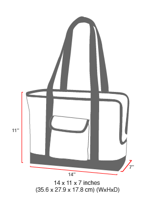 size chart Pet Carrier Tote Bag Ver 2