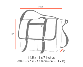 size chart Trotter Messenger Bag Jr. (MD)