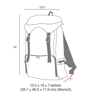 size chart Hiker Backpack 3