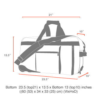 size chart Curtiss Luggage Backpack