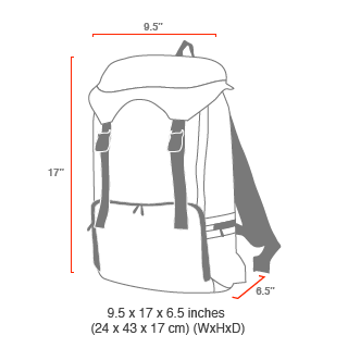size chart Hiker Backpack JR