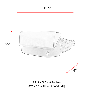 size chart Grand Army Waist Bag