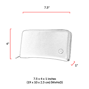 size chart Pine Wallet