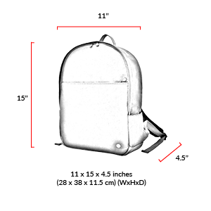 size chart University Waxed Backpack