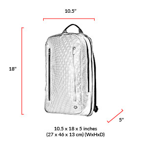 size chart BAY RIDGE BACKPACK