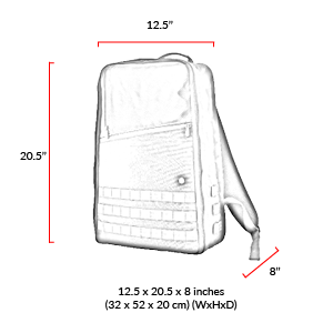 size chart Grand Army Backpack (L)