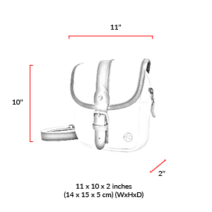 size chart Ft. Greene Organic Shoulder Bag (S)